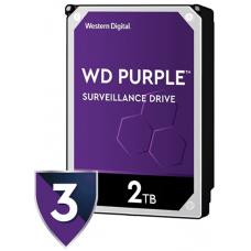 WESTERN WD20PURZ - Disco duro 2 TB / Serie PURPLE / SATA 6 GBS / Recomendado para videovigilancia / Tamano de 3.5