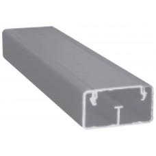 Canaleta de aluminio 2 vías de 2.50 mts. HMA048