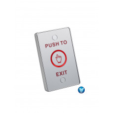 YLI TSK830ALED - Botón liberador touch con iluminación LED para exteriores e interiores con IP68 salidas NO y NC, No requiere caja de instalación