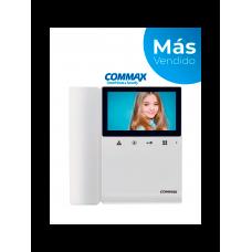 COMMAX CDV43K2 - Monitor para video portero a color de 4.3 pulgadas con función de apertura de puerta, compatible con soluciones residenciales y departamentales, conexión a 4 hilos