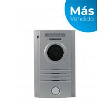 COMMAX DRC40K - Frente de calle de aluminio indicado para Interior y exterior, compatible con todos los monitores por conexión a 4 hilos, notificación a celular solo con monitor CMV70MX/ Ajuste vertical de cámara