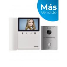 COMMAX CDV43K2DRC4LG - Kit con monitor para video portero a color de 4.3 pulgadas con auricular y frente de calle, comunicación con audio y video, función de apertura de puerta no requiere configuración
