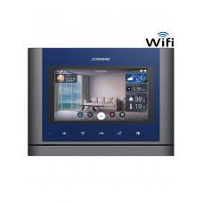COMMAX CMV70MX - Monitor touch manos libres de 7 pulgadas comunicación WiFi , Notificación a celular con audio y video, soporta apertura remota de puerta, conexión a 4 hilos con frente de calle