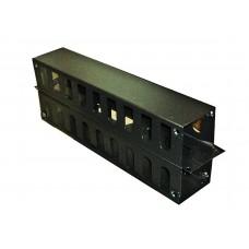 IT10213D - Organizador de Cables. Metal Horizontal, 2UR Doble
