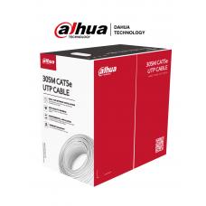 DAHUA PFM920I-5EUN-C-V2 - Bobina de Cable UTP Blanco 100% Cobre/ Categoria 5e/ 305 Metros/ CPR Eca/ Video y Redes/ Compatible con Alimentación PoE/