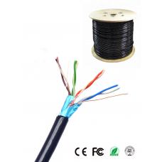 SAXXON OFTPCAT5ECOPE305N - Cable blindado FTP 100% cobre / Categoria 5E / Color negro / Exterior / 305 M / Aplicaciones CCTV / Redes de datos