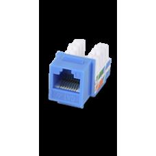 Modulo JACK KEYSTONE RJ45 / 8 Hilos / CAT 6 / Compatible con calibres AWG 22-26 / Color azul