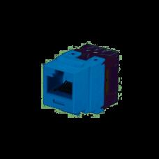 Jack UTP, Módulo de ficha Keystone tipo punchdown de 8 cables, 8 posiciones, de categoría 6. Azul