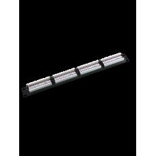 SAXXON P19748N6 - Patch Panel 48 puertos / CAT 6 / 19 Pulgadas / Montaje en rack / 2U