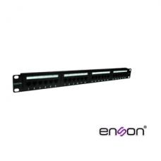 Enson Enspa24P6 Cat6 24P 1U / PATCH PANEL CAT6 24PUERTOS ENSON ENS-PA24P6