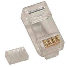 PLUG RJ45 CAT6 BROBOTIX 101402, Cat6, Transparente, Caja de 100 piezas.