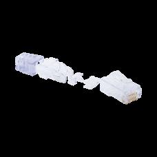 Plug RJ45 Cat6, Para Cable UTP de Calibre 23-24 AWG, Chapado en Oro de 50 micras, Bolsa de 100 piezas