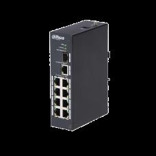 DAHUA PFS3110P96 - Switch PoE 8 puertos / 1 Puerto UPLINK SFP / 1 Puerto UPLINK ethernet Gigabit / 96W / SWITCHING 7.6G