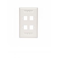 BELDEN AX102249 - Placa frontal / 4 Ventanas / Color blanco