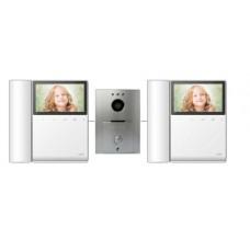 COMMAX - CDV43PAQ2-FRENTE De calle y 2 monitor con auricular a color 4.3 pulgadas