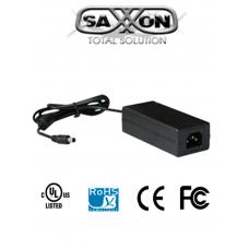 SAXXON PSU1204D- Fuente de poder regulada de 12 VCD/ 4.1 Amperes/ Certificación UL/ Cable de 1.2 mts