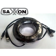 SAXXON WB0130C - SAXXON WB0130C - Cable de video y energía de 30 Mts / B NC Macho / 1 Conector macho y 1 conector hembra de energía / Para cámaras HD de hasta 6W