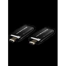 SAXXON LKV388MINI- Kit mini extensor inalámbrico HDMI/ 1080P HD / Plug and play / Hasta 15 metros de distancia