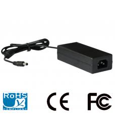 Fuente de poder regulada 12V CD / 4.1 Amperes / Cable de 1.2 Mts / Color negro