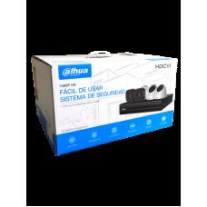 DAHUA COOPER XVR1A04KIT - Kit 4 canales 1 megapixel / 4 Camaras B1A11 1 megapixel / H.264 / 1 Canal IP adicional / 1 SATA Hasta 6TB / P2P