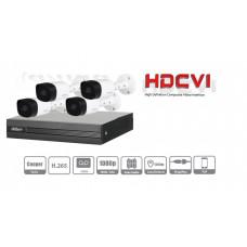DAHUA COOPER XVR1B04KIT - Kit 4 canales 2 megapixeles / 4 Camaras B1A21 1080p / DVR De 4 canales H.265+ 1080p Lite / 1 Ch IP adicional 4+1 / Ir 20M / IP67 / ACCESOR iOS.